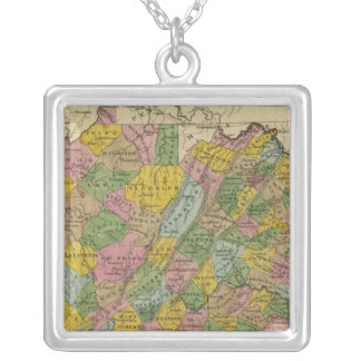 Virginia 11 silver plated necklace