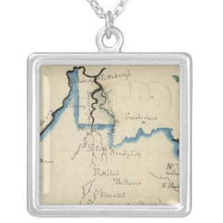 Virginia 5 silver plated necklace