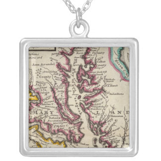Virginia and Maryland Silver Plated Necklace