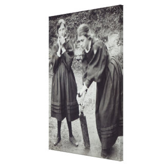 Virginia and Vanessa Stephen, in St. Ives, 1894 Gallery Wrapped Canvas