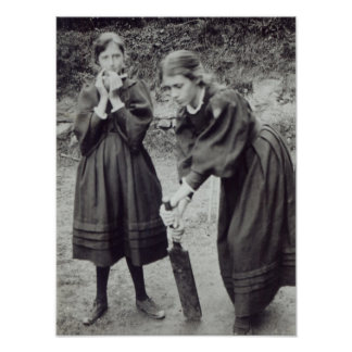 Virginia and Vanessa Stephen, in St. Ives, 1894 Poster