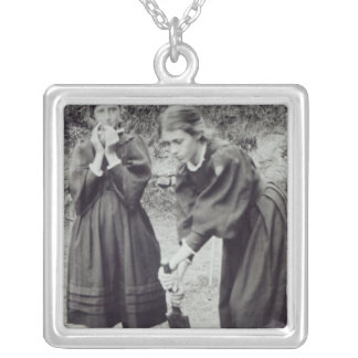 Virginia and Vanessa Stephen, in St. Ives, 1894 Silver Plated Necklace