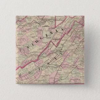 Virginia and West Virginia 15 Cm Square Badge