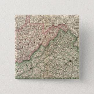Virginia and West Virginia 2 15 Cm Square Badge