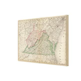 Virginia and West Virginia 2 Canvas Print