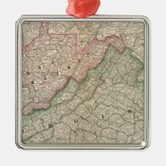 Virginia and West Virginia 2 Christmas Ornament