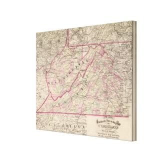 Virginia and West Virginia Canvas Print