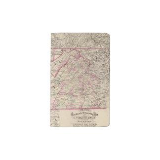 Virginia and West Virginia Pocket Moleskine Notebook