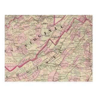 Virginia and West Virginia Postcard