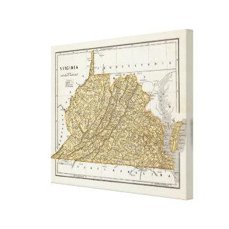 Virginia Atlas Map Canvas Print