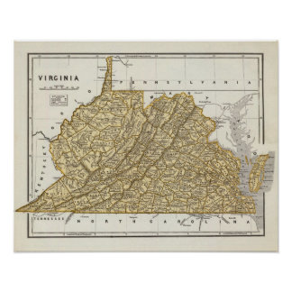 Virginia Atlas Map Poster