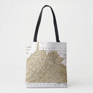 Virginia Atlas Map Tote Bag