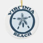 Virginia Beach. Double-Sided Ceramic Round Christmas Ornament