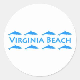 Virginia Beach Dolphins Logo Round Sticker