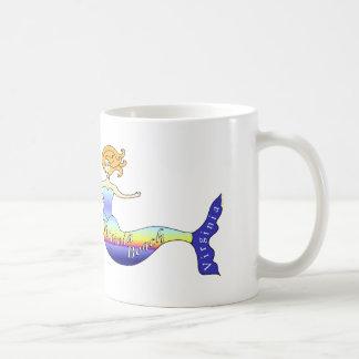 Virginia Beach Mermaid Basic White Mug
