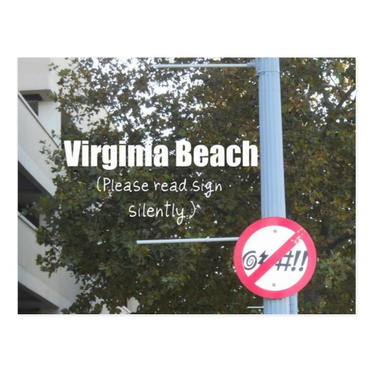 Virginia Beach Profanity Signs Postcard
