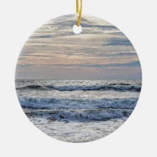 Virginia Beach Sunrise Round Ceramic Decoration