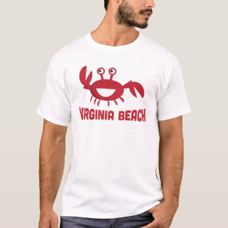 Virginia Beach T-shirt - Funny Red Crab