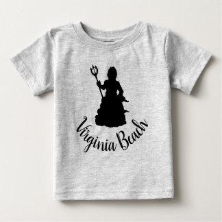 Virginia Beach, VA Neptune Statue Silhouette Baby T-Shirt