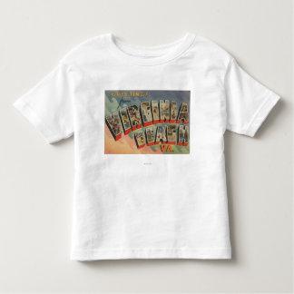 Virginia Beach, Virginia - Large Letter Scenes Toddler T-Shirt