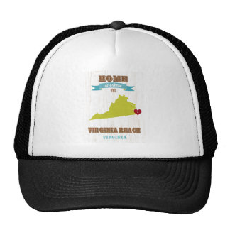 Virginia Beach, Virginia Map – Home Is Where Trucker Hats