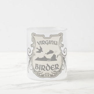 Virginia Birder Frosted Glass Coffee Mug