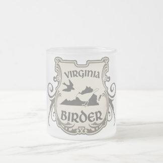 Virginia Birder Frosted Glass Mug