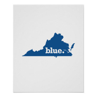 VIRGINIA BLUE STATE POSTER