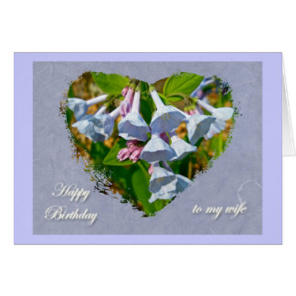 Virginia Bluebells Wife Birthday Coordinated Items Card