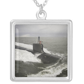 Virginia-class attack submarine silver plated necklace