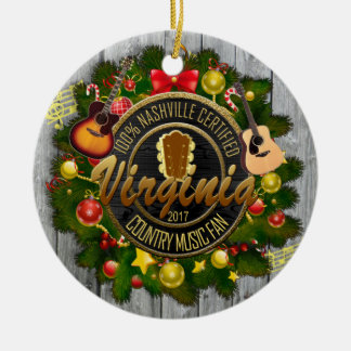 Virginia Country Music Fan Christmas Ornament