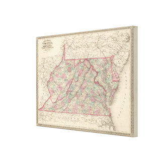 Virginia, Delaware, Maryland, and West Virginia Canvas Print