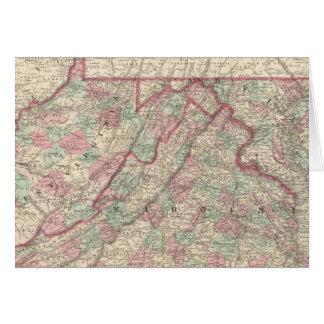 Virginia, Delaware, Maryland, and West Virginia Card
