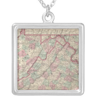 Virginia, Delaware, Maryland, and West Virginia Silver Plated Necklace