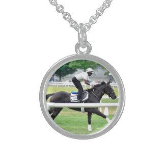 Virginia Derby Winner War Dancer Sterling Silver Necklaces