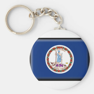 Virginia Flag Key Ring
