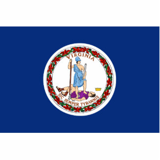 Virginia Flag Keychain Cut Out