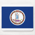 Virginia flag mouse pad