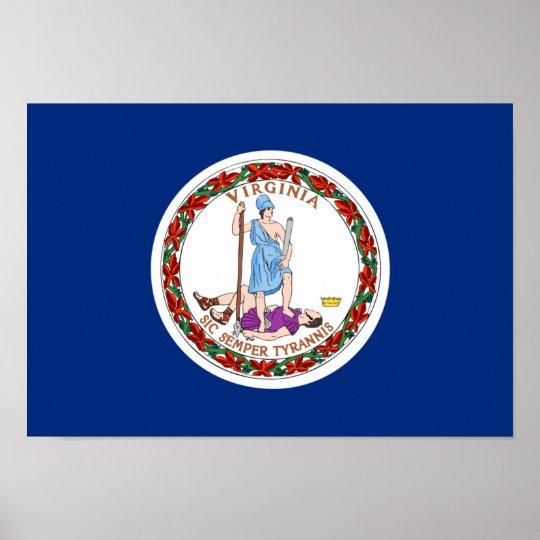 Virginia Flag Poster