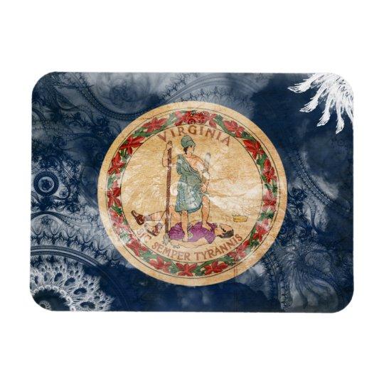Virginia Flag Rectangular Photo Magnet