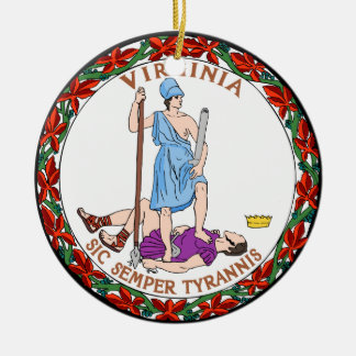Virginia Great Seal Christmas Ornament