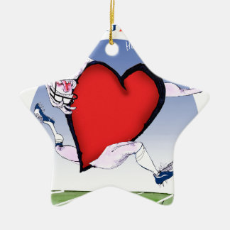 Virginia head heart, tony fernandes ceramic star decoration