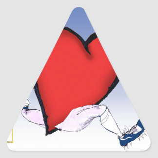 Virginia head heart, tony fernandes triangle sticker