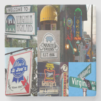 Virginia Highland Collage, Atlanta Coasters Stone Coaster