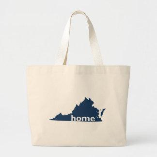 Virginia Home Large Tote Bag
