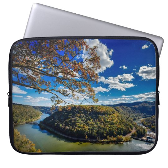 Virginia Horse Shoe Bed River Laptop Sleeve
