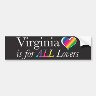 Virginia is for ALL Lovers Bumper Sticker