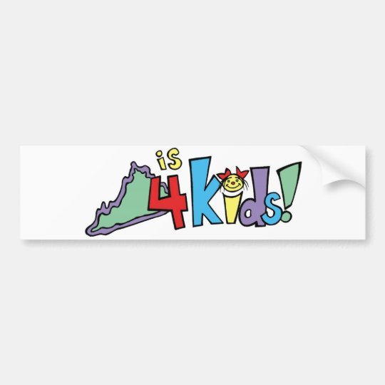 Virginia is for Kids! bumper sticker