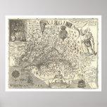 Virginia John Smith Map 1624 Poster