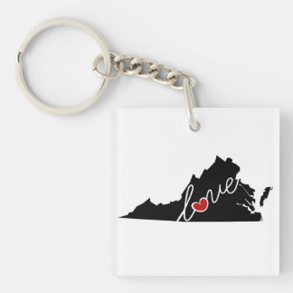 Virginia Love!  Gifts for VA Lovers Key Ring